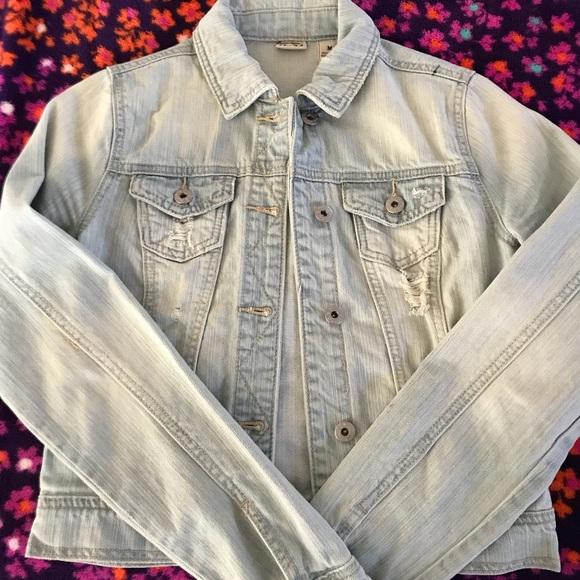 Mudd Jackets Coats Gently Distressed Denim Jacket Tumblr Poshmark